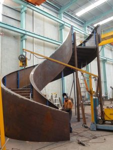 Steel Fabrication Construction Library Stairs